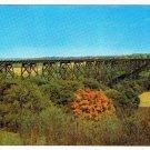 Illinois Postcard Chicago North Western Railway Bridge Des Moines River Valley