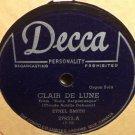 Ethel Smith Clair De Lune 78 rpm Largo Decca