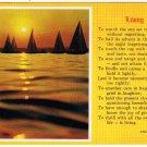 Living Postcard Sailboats Sunset Beautiful Poem