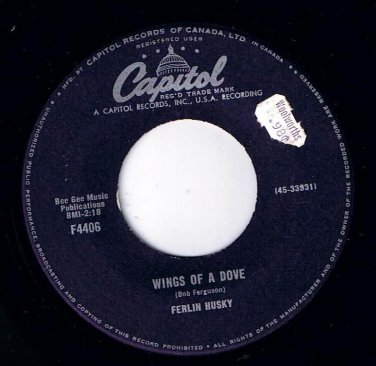 Ferlin Husky Wings Of A Dove 45 rpm Next To Jimmy Capitol NM