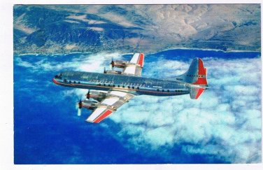 Advertising Postcard American Airlines Electra
