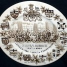 Wood & Sons Alpine Canada Centennial Plate Fathers of Confederation England