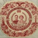 King George VI Queen Elizabeth Plate Visit to USA 1939 Royal Ivory John Maddock