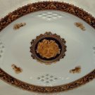 T. Limoges Bacchus Oval Plate Serving Tray Reticulated Designed in France