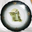 R C Crown Collector Plate Monbijou Bavaria Shepherdess Green