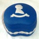 Wedgwood Jasperware Trinket Box Prince Philip Duke of Edinburgh Deep Cobalt 1977