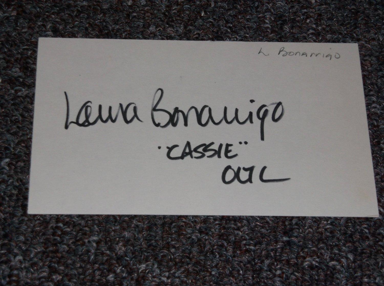 Laura Bonarrigo signed 3x5 card, TV Soap Actress