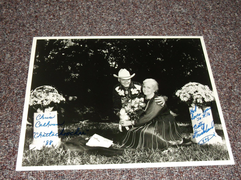 Chris Calhoun Chattahoochee signed 10x8 photo
