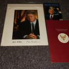 Bill Clinton signed reprint photo plus 2 brochures