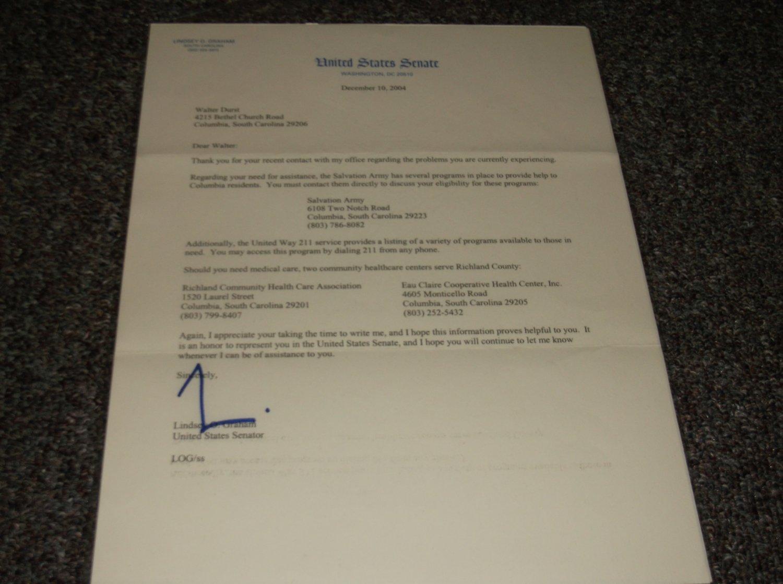 Senator Lindsey Graham signed 2004 letter
