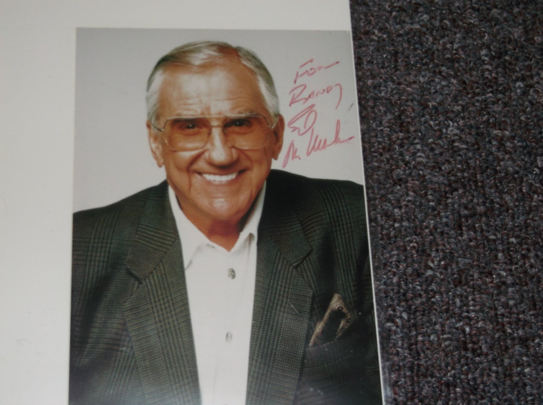 Ed McMahon (1923-2009) signed inscribed 4x6 photo
