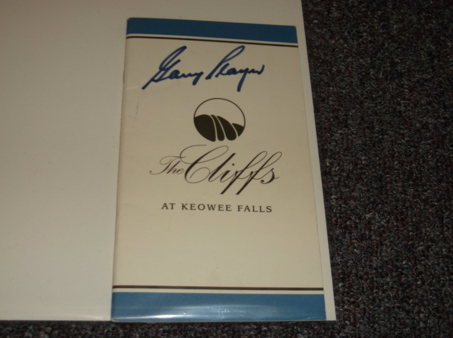 Gary Player signed SC Golf Course booklet, PGA Great