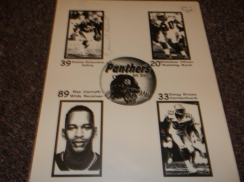 Damian Richardson signed photo Carolina Panthers
