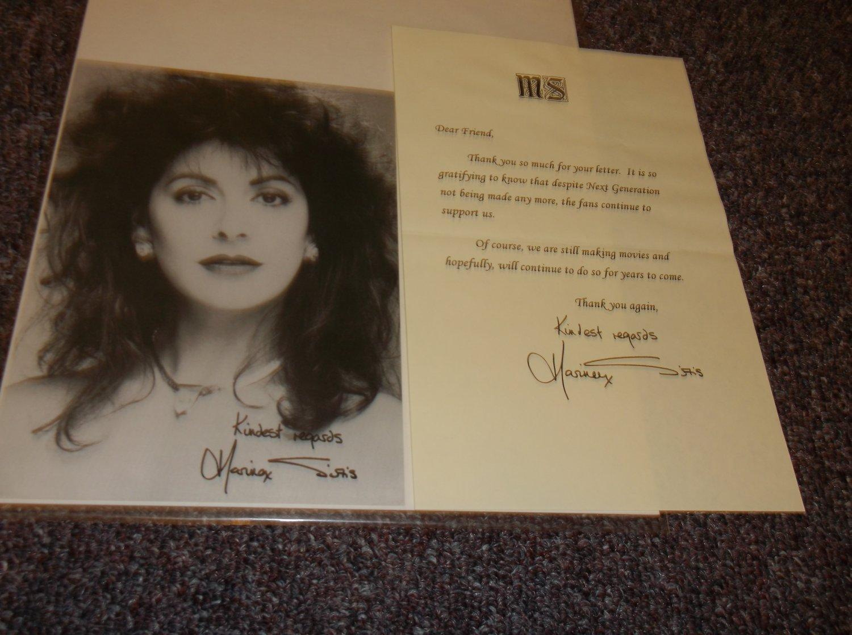 Marina Sirtis signed reprint 5x7 plus fan letter