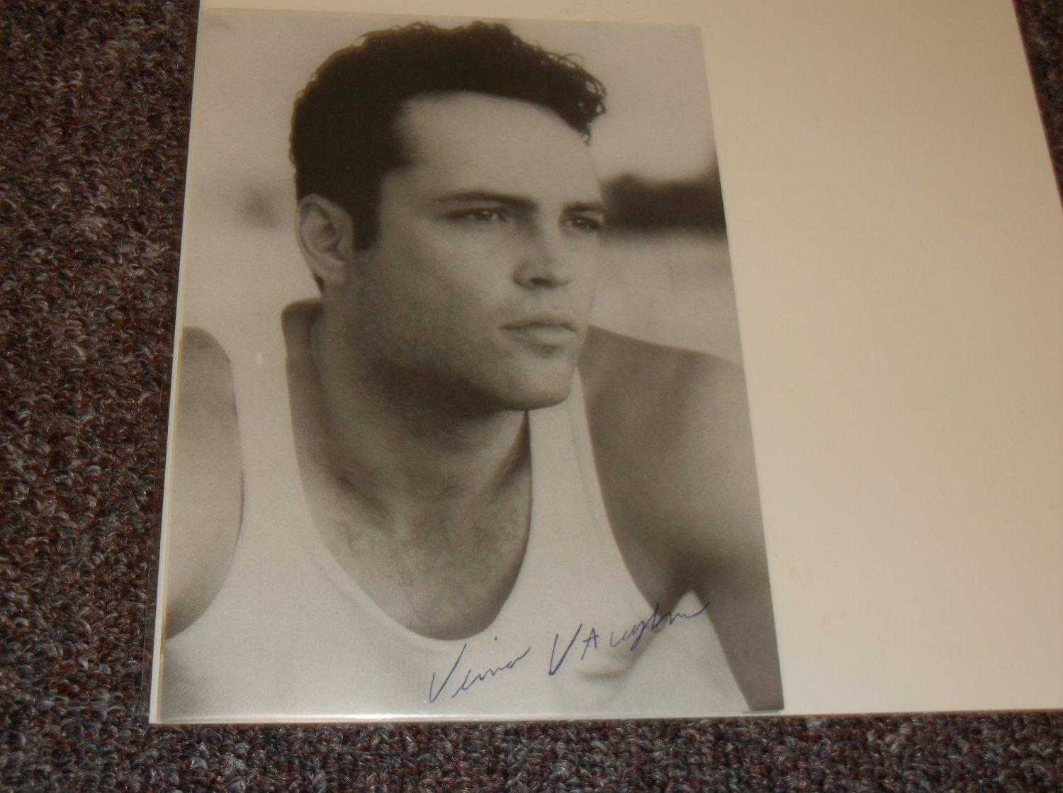 Vince Vaughn signed reprint 5x7 photo undershirt