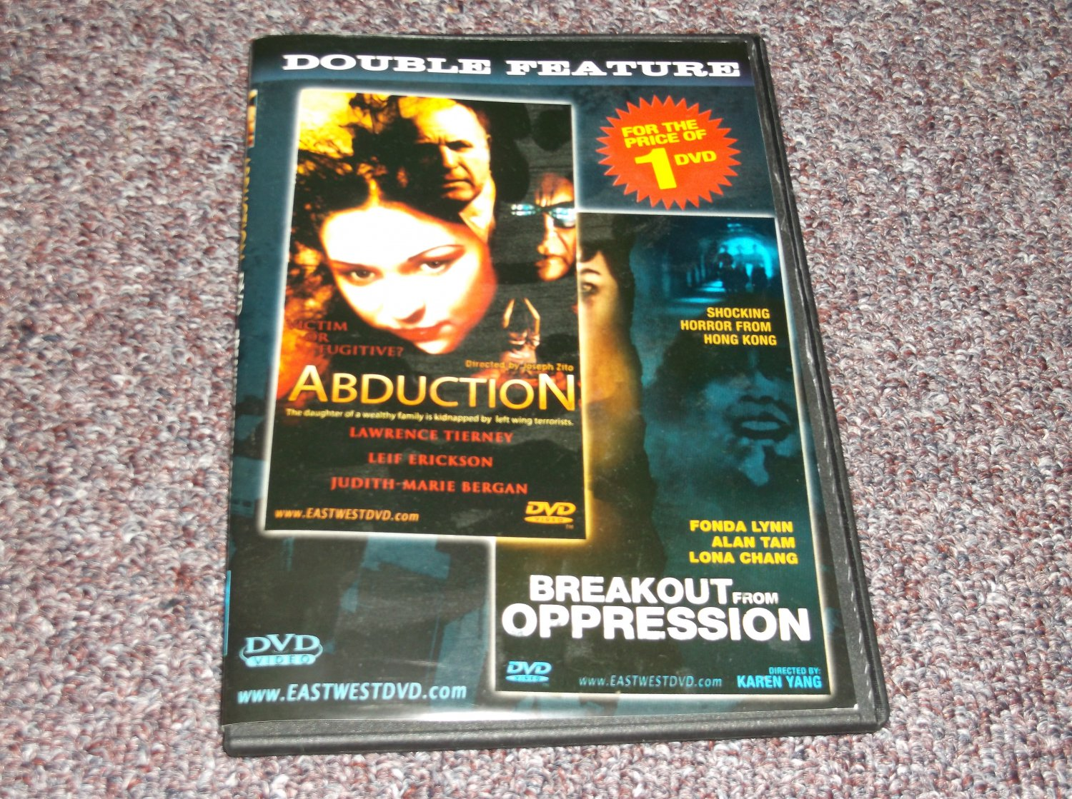 Abduction/Breakout from Oppression DVD Region 0