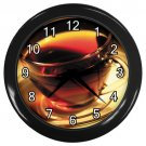 Clear Cup Of Tea Black Frame Kitchen Wall Clock