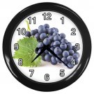 Bunch Of Blue Grapes Black Frame Kitchen Wall Clock