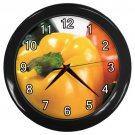Assorted Bell Peppers Black Frame Kitchen Wall Clock