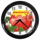 Strawberry Jelly Jar Black Frame Kitchen Wall Clock