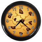 Chocolate Chip Cookie Black Frame Kitchen Wall Clock