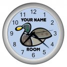 Blue Personalized Duck Wall Clock