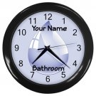 Personalized Water Drop Blue Bathroom Wall Clock