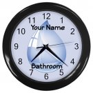 Personalized Water Drop1 Blue Bathroom Wall Clock