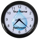 Personalized Water Drop2 Blue Bathroom Wall Clock