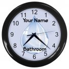 Personalized Water Drop3 Blue Bathroom Wall Clock