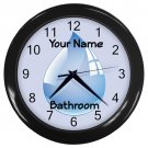 Personalized Water Drop4 Blue Bathroom Wall Clock