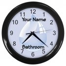 Personalized Water Drop5 Blue Bathroom Wall Clock
