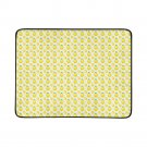 Yellow Apple Pattern Portable and Foldable Picnic Mat 60 Inches by 78 Inches