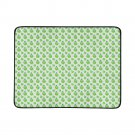 Green Apple Pattern Portable and Foldable Picnic Mat 60 Inches by 78 Inches