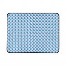 Blue Apple Pattern Portable and Foldable Picnic Mat 60 Inches by 78 Inches
