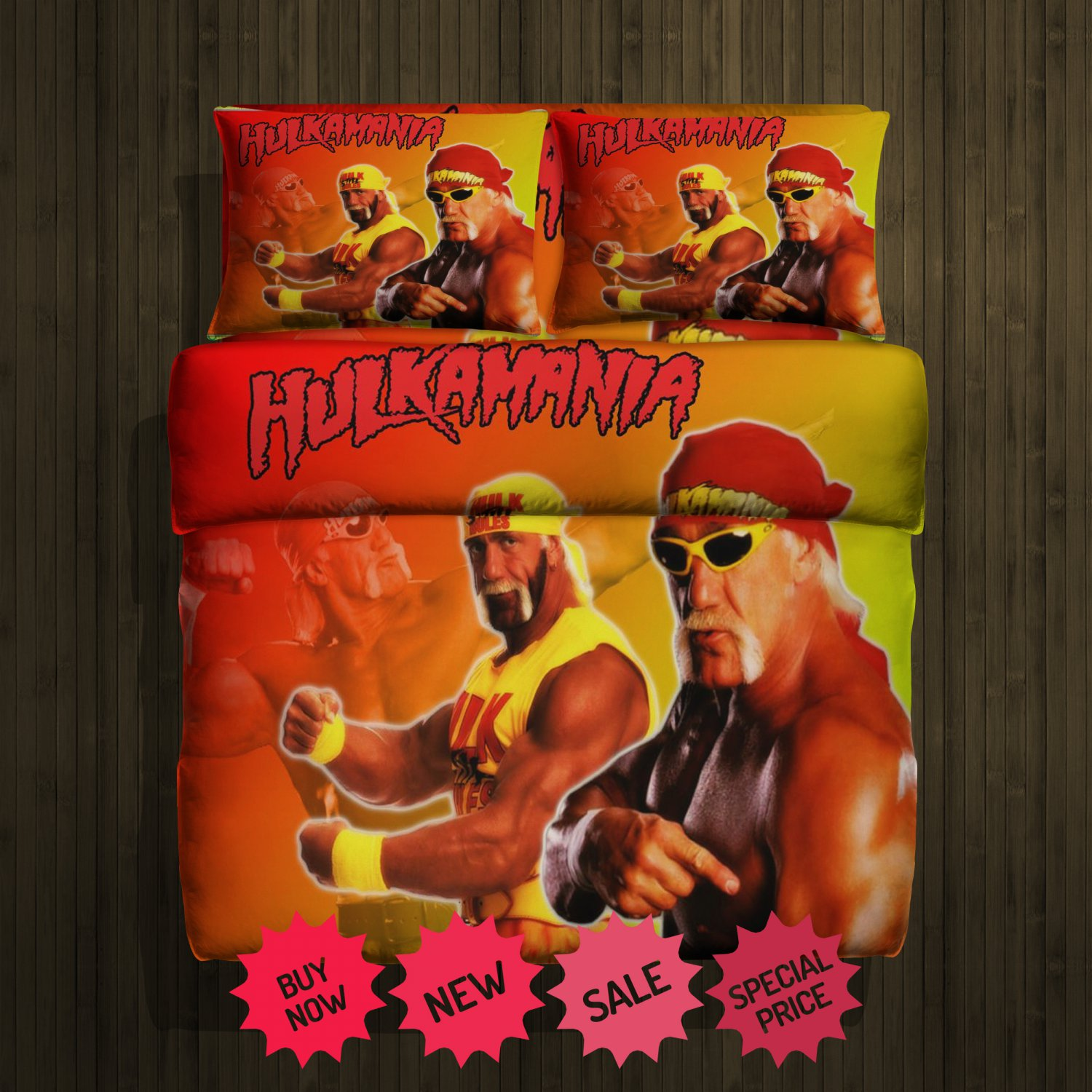 Hulk Hogan Fleece Blanket Large & 2 Pillow Cases #84783288,84783289(2)