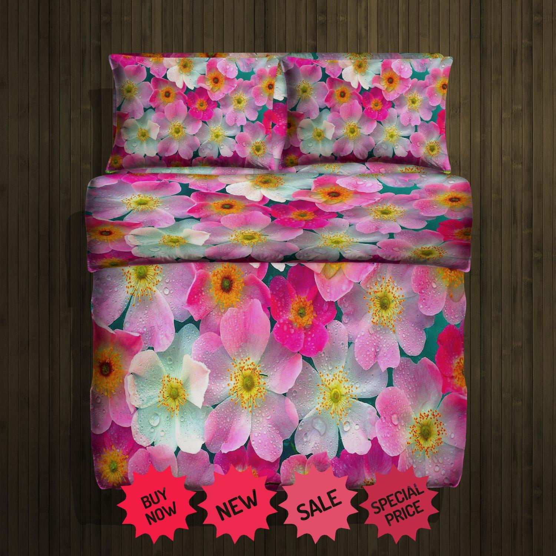 Flower Fleece Blanket Large & 2 Pillow Cases #84783307,84783311(2)