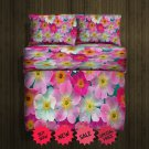 Flower Fleece Blanket Large & 2 Pillow Cases #84783307,84783311(2)