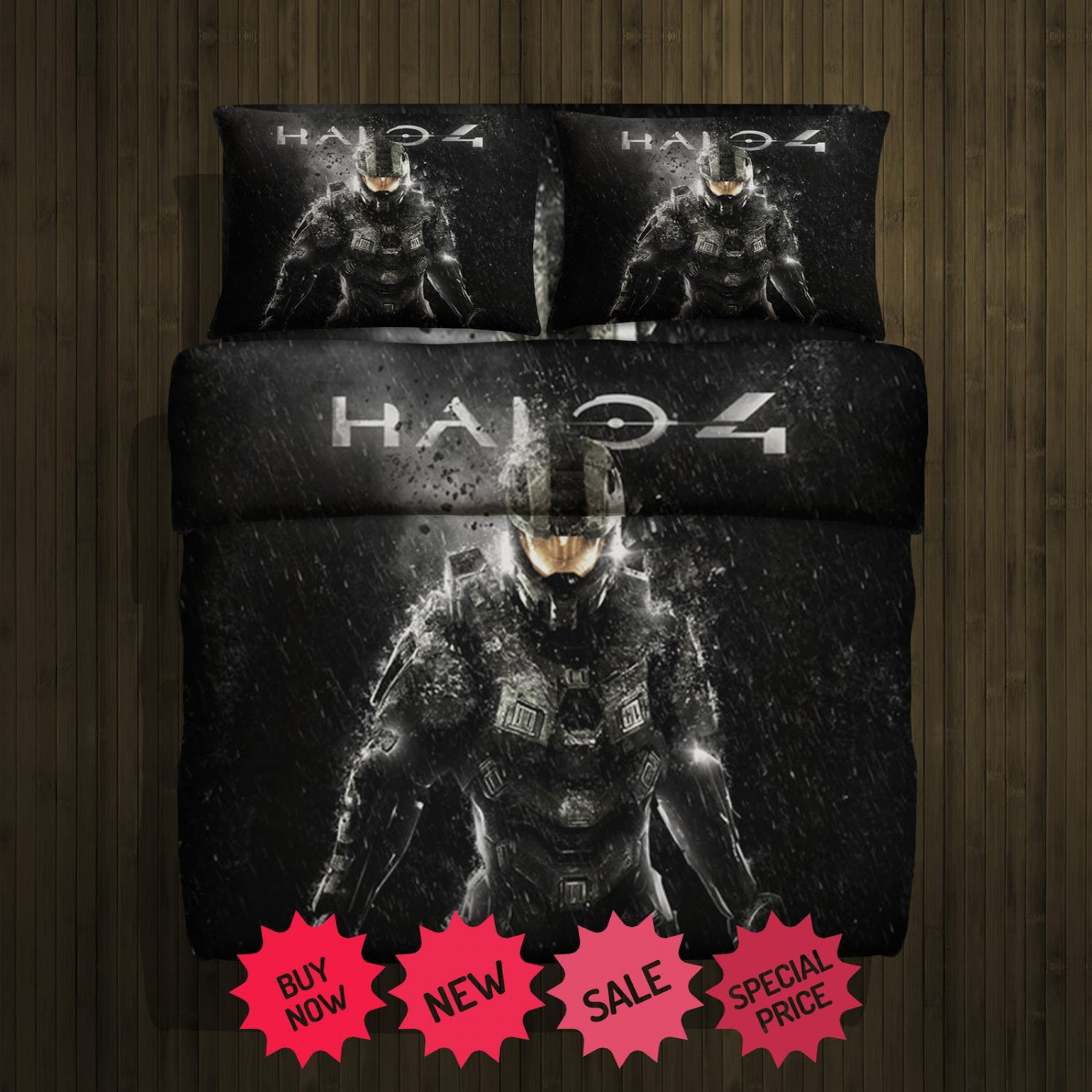 Halo 4 Fleece Blanket Large & 2 Pillow Cases #85700294,85700297(2)