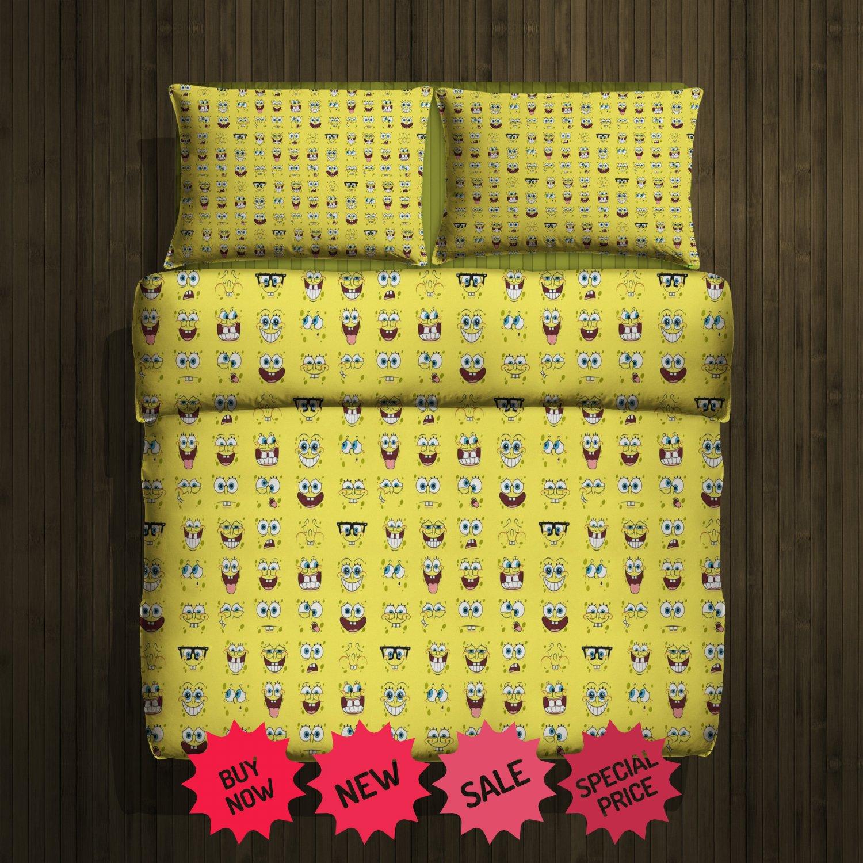 Spongebob Blanket Large & 2 Pillow Cases #88007213 ,88007214(2)