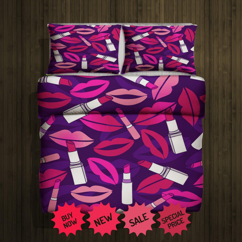 Valentine lips Blanket Large & 2 Pillow Cases #96488608,96488611(2)