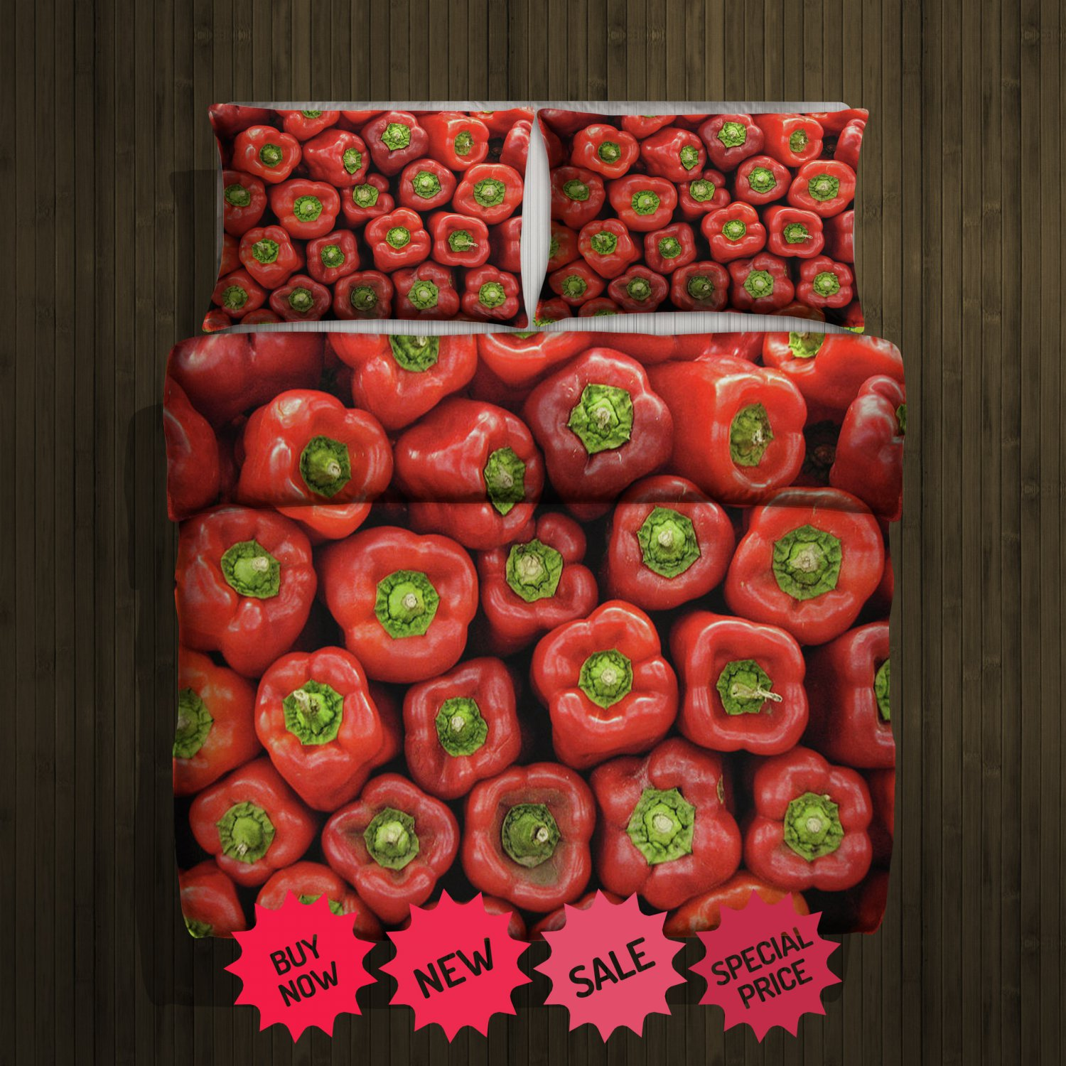Peppers Blanket Large & 2 Pillow Cases #96488619,96488625(2)
