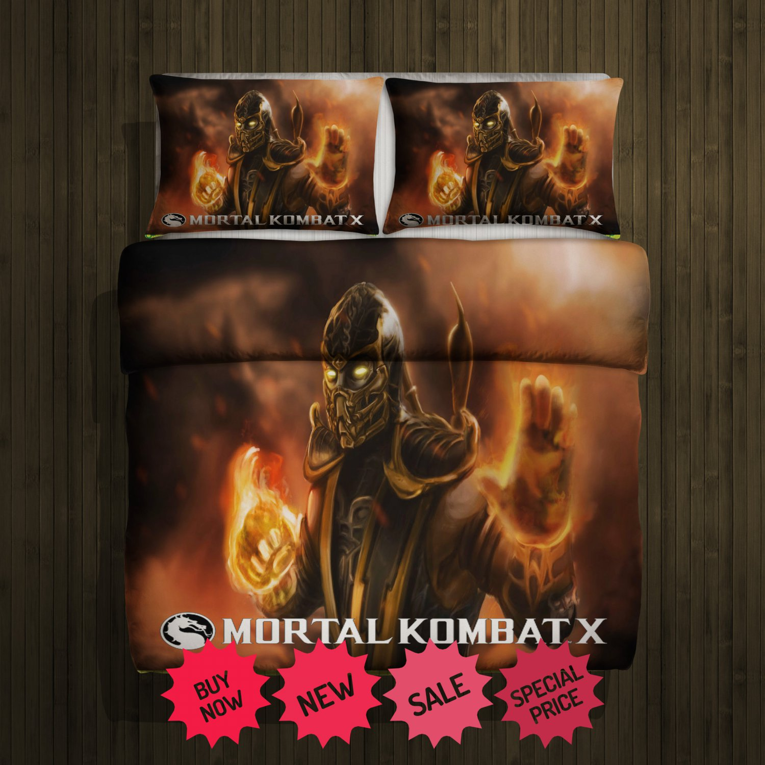 Mortal Kombat Blanket Large & 2 Pillow Cases #96550774 ,96550775(2)