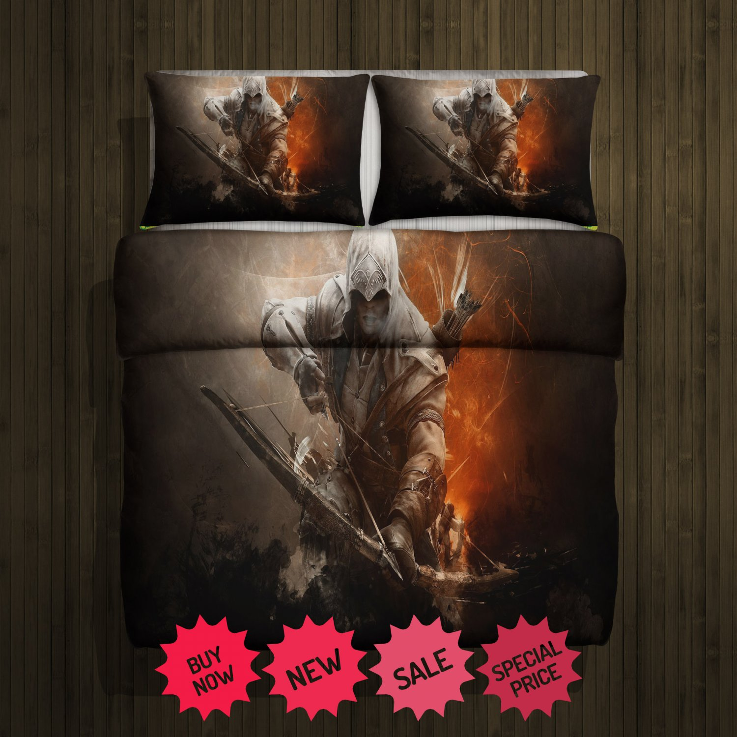 Assassins Creed 3 Blanket Large & 2 Pillow Cases #97363923,97363924(2)