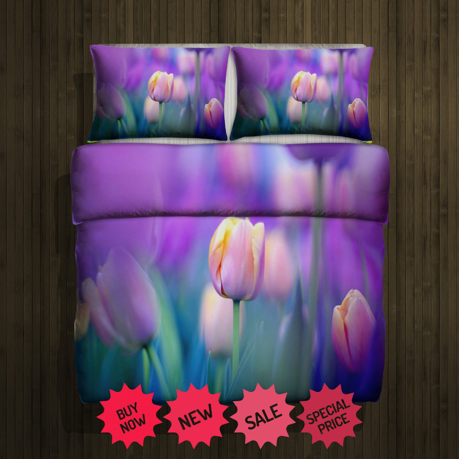 Tulip 3 Blanket Large & 2 Pillow Cases #98650415 ,98650455(2)
