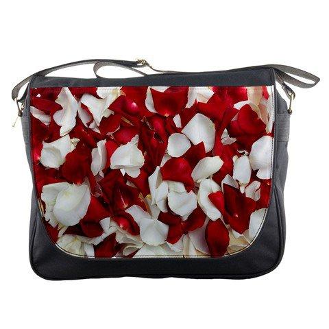 Rose White & Red Messenger Bag #98640297
