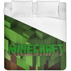 Mine Craft Creeper Duvet Cover King Size #109914642