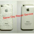 New OEM IPhone 4s Back Glass Battery Door Cover Repair Service