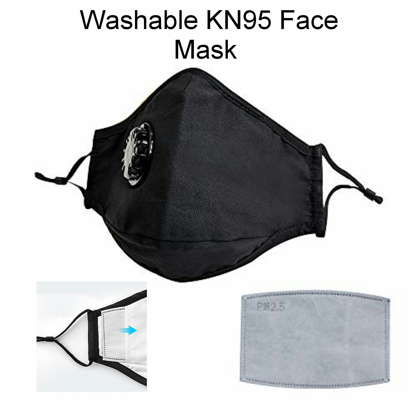 New Adjustable & Reusable Face Masks + Filters