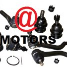 Kit Inner Outer Tie Rods Upper Lower Ball Joints 1998-2001 RWD 2.4L Frontier New